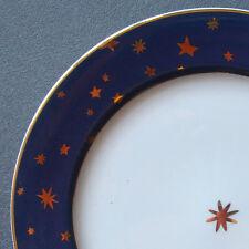 "dinnerware Sakura blue Galaxy 14K gold stars 8½"" salad plate (s)"