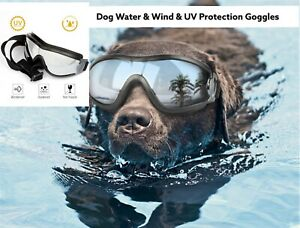 Dog Sunglasses Dog Goggles with Adjustable Strap for Medium to Large Breed