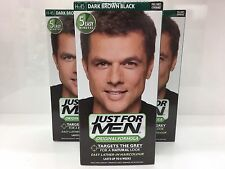 3 x JUST FOR MEN SHAMPOO-IN COLOUR DARK BROWN-BLACK H45