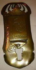 Antique German Art Nouveau Ges.Gesch Brass wall match box holder, c1900
