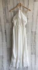 Lovers + Friends White Lace Halter Maxi Dress XS REVOLVE