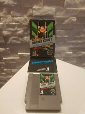 DONKEY KONG 3 NES Hang-Tab BLACK BOX 5-Screw Cart WORKING! Nintendo 1986 RARE!