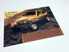 2003 Jeep Wrangler Rubicon Information Sheet Brochure