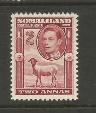 SOMALILAND PROTECTORATE 1938  2a  KGVI  PICTORIAL  MLH  SG 95