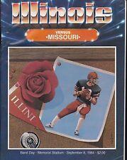 Illinois vs Missouri 1984 college football program ticket stub