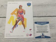 Ana Ivanovic Signed Autographed 5x7 W&S Card Beckett BAS COA a