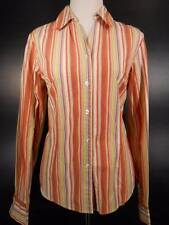 Beautiful Women's Medium Coldwater Creek Multi-Color Stripes Fitted LS Blouse