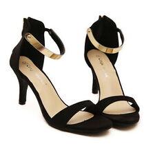 Women's Solid Suede Sandals and Flip Flops