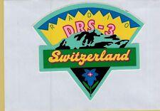ADESIVO STICKER VINTAGE  SVIZZERA SUISSE SWITZERLAND RADIO DRS-3