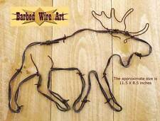 Moose - handmade metal wall barbed wire art hanging artist US country sculpture