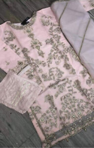 3pc Pakistani Organza Dress Asian Party Wear Only Size M Available