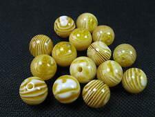 15 Perline Acrilico Rotondo Oro Giallo variegata 10mm 2895
