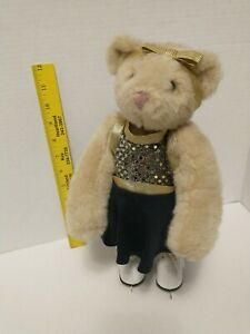 """VERMONT TEDDY BEAR CO.12"""" JOINTED BEAR 1997 Girls Gift Ice Skater collectables"""