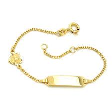 Baby Taufe Schutzengel Herz mit Namen Gravur Armband Echt Silber 925 vergoldet
