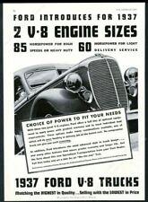 1937 Ford Tudor Sedan /& 1936 Ford Pickup Illustration 8x11 Reprint Garage Decor