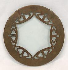 New ListingAntique Arts & Crafts Hammered Copper & Glass Trivet
