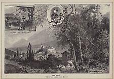 Innsbruck AMRAS-serratura Ambras - 3 viste-immagine dopo R. Püttner del 1885