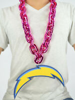 New NFL Los Angeles Chargers PINK Big Chain Necklace Foam Magnet -2 in 1