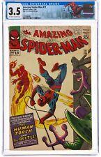 The Amazing Spider-Man #21 (Feb 1965, Marvel Comics) CGC 3.5 VG-   Human Torch