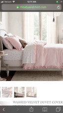 BRAND NEW BABY & CHILD RESTORATION HARDWARE PINK VELVET PILLOW SHAM