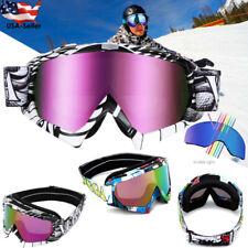 Unisex Motocross Snowboard Ski Goggles Dust Uv Dustproof Protective Glasses Usa!