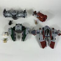 Huge lot Lego starwars ships yoda minifigures (Incomplete) AS IS