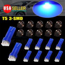 10x Blue T5 PC74 Twist Lock Socket Interior Instrument Panel Led Dash Light Bulb