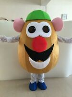 Vegetable Eggplant Potato Head Mascot Halloween Advertising Costume Suits