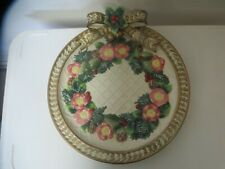 """Fitz & Floyd Classics Canapé Plate or Wall Hanging 9.25"""" Raised Pink & Gold"""