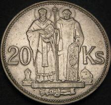 SLOVAKIA 20 Korun 1941 - Silver - St. Cyril and St. Methodius - VF - 3614 ¤