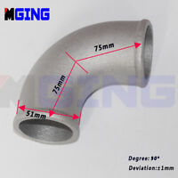 "51mm 2"" Joiner Cast 90 Degree Elbow Turbo Intercooler Pipe Piping Aluminum"