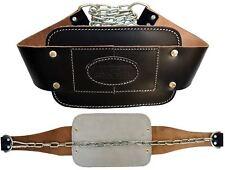 AQF In Pelle LAVAGGI Cintura Imbottito Peso Sollevamento Heavy Duty ABS con catena in metallo