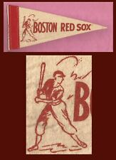 OLD Boston Red Sox Baseball Pennant!  1950's WOW!