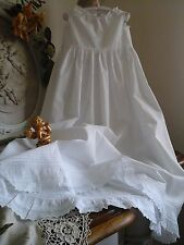 Antique French Baby Christening Gown/Petticoat ~ Brodery Anglaise/Lace~Heirloom