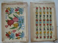 2- Sets Duro Decals 1950's Unused Roses 1002A/1002B