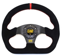 NEW OMP Superquadro 320mm Black Suede Leather Flat Racing Sport Steering Wheel