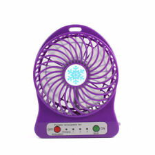 (PURPLE) USB Mini Fan Rechargeable for home/ office desk, car, camping