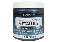 Americana Decor ADMTL12-36 Metallics Water-Based Craft Paint, Pewter, 8 Oz