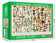 Jigsaw Puzzle 1000 Piece Mushrooms Learning Toy Game for Adults Gift