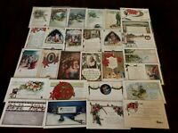 VINTAGE WHITNEY~CHRISTMAS COLLECTION~LOT of  31 XMAS & New Year POSTCARDS-h133