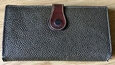 Mulberry Vintage Scotchgrain Dark Brown Leather Continental Wallet Purse England