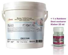 Massa Ticino Tropic 7 Kg Eimer weiß Rollfondant + Edible Glue 25ml essbar kleber