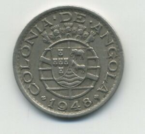 Angola Portuguese colony 50 Centavos 1948 KM 72 VF
