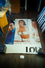 LOU K LINGERIE 4x6 ft Bus Shelter Original Vintage Sexy Advertising Poster