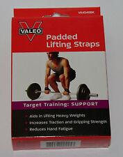 NEW-Valeo Padded Lifting Straps Comfortable Neoprene Padding Brand New