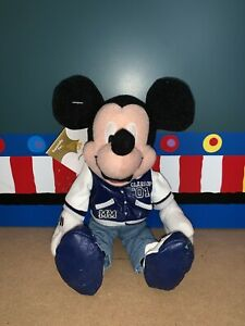 Disney Store Letterman Mickey Vintage Plush Doll With Tags