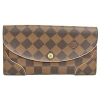 Louis Vuitton Portefeuille Kaisa N61227 Damier Long Wallet Purse brown Pink Gold
