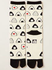 NEW Japanese Unisex Split Toe Tabi Socks Onigiri RIce Ball Design Made in Japan