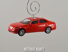 '11 '12 '13 '14 Custom Mars Red Mercedes Benz E63 AMG Christmas Ornament 1/64