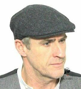 Mens Flat Cap Grey Herringbone Tweed Wool Blend BETTER QUALITY Style 1927